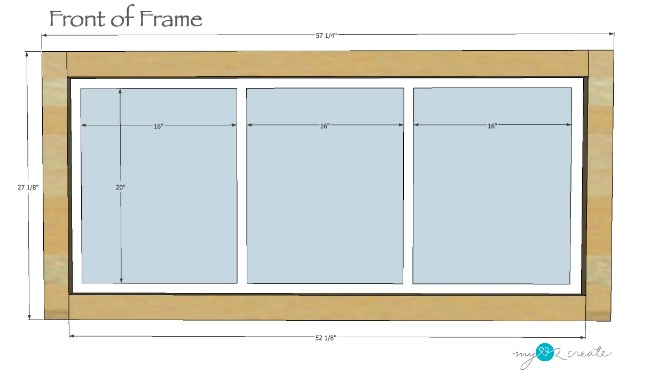 Dimensions for front of Picture frame