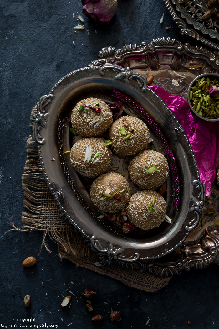 Melt-in-the-Mouth Churma Ladoo with Sugar