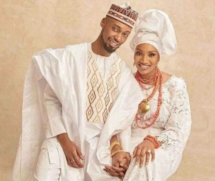 Aliyu Atiku Abubakar with Fatima Nuhu Ribadu