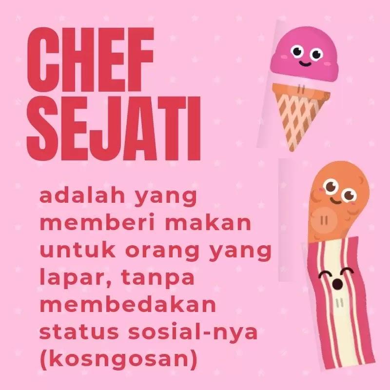 kata bijak chef koki