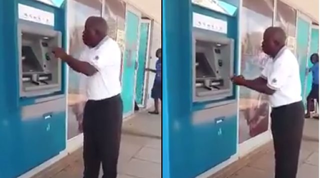 Video: Furious Bank Customer Speaks In Tongues Over ATM