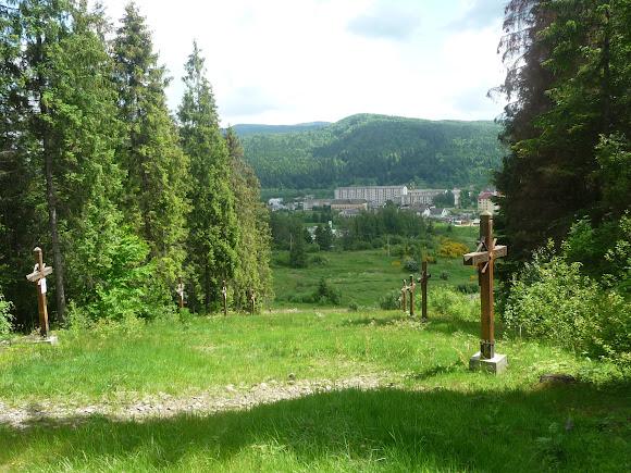 Сколе. Крестная дорога на горе Альтана