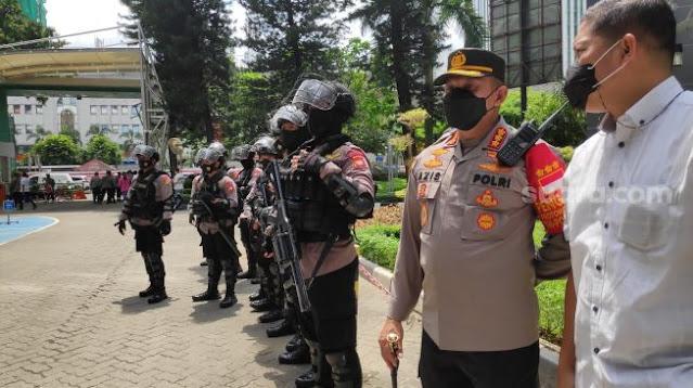Cegah Bentrok Kubu AHY - Moeldoko, 3 Kompi Kepolisian Jaga Kemenkumham