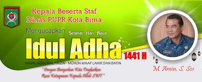 Kepala Beserta Jajaran Dinas PUPR Kobi Mengucapkan Selamat Hari Raya Idul Adha 1441 Hijriyah