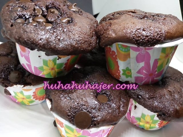 Muffin Coklat  Resepi Azlina Ina Buat Sendiri Menjadi Kembung Gebu Gebas Kejadiannya