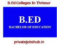 B.Ed Colleges In Thrissur