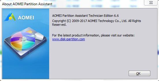 Aomei Partition Assistant Technician 6.6 serial