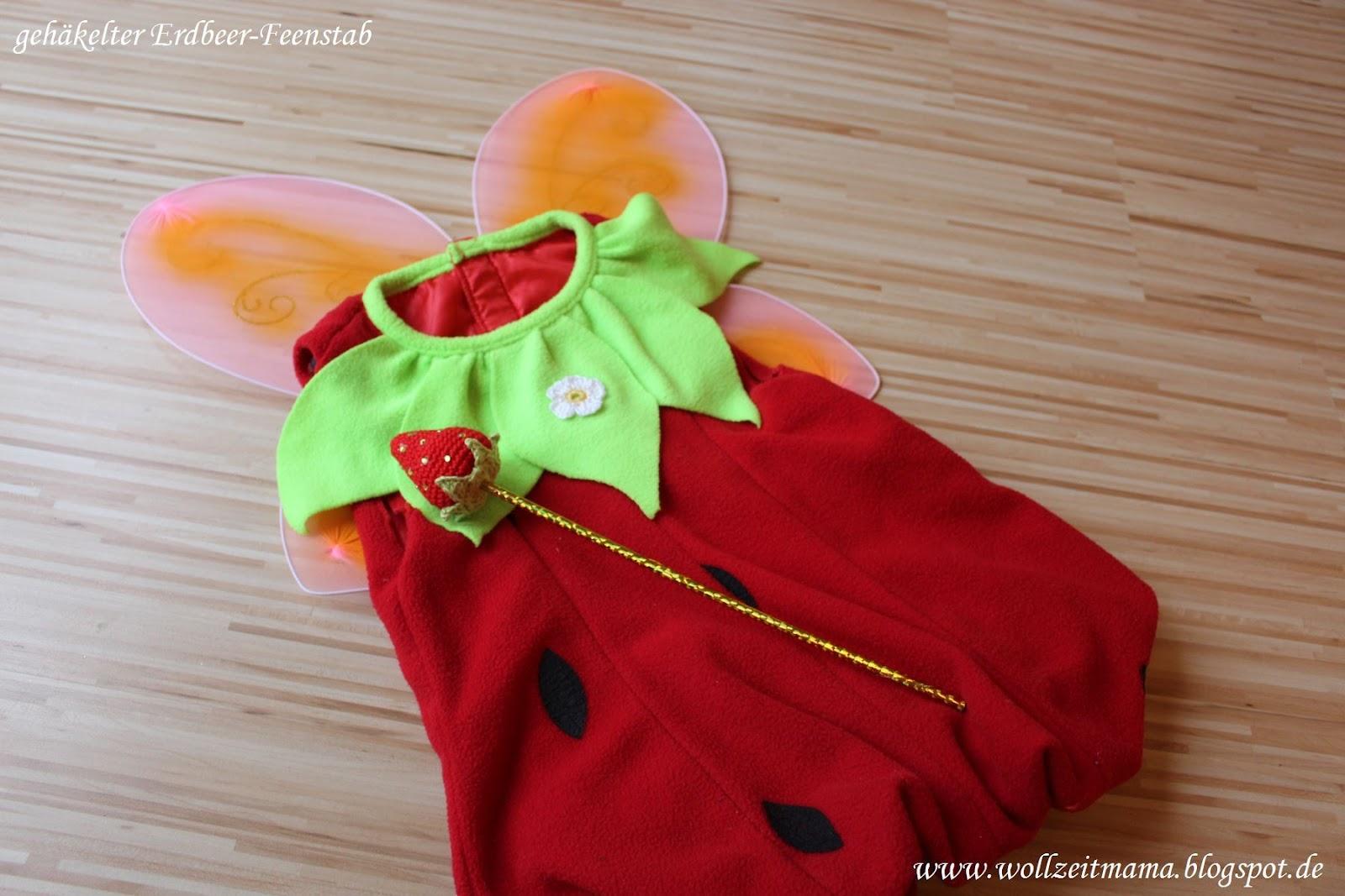 Wollzeitmama Diy Erdbeer Feenstab Zum Fasching Selber Machen
