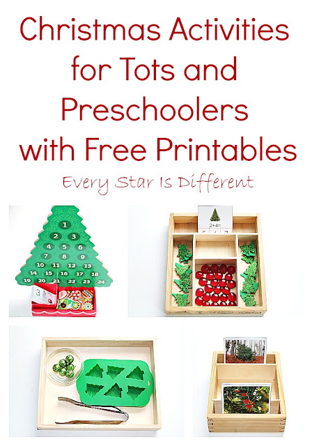 Christmas Tree Activities for Tots and Preschoolers with Free Printables
