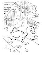 הברווזון המכוער דפי צביעה