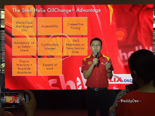 Leo Cabredo, Retail Lubricants Business Development Manager discuss the importance and advantages of Shell Helix OilChange.