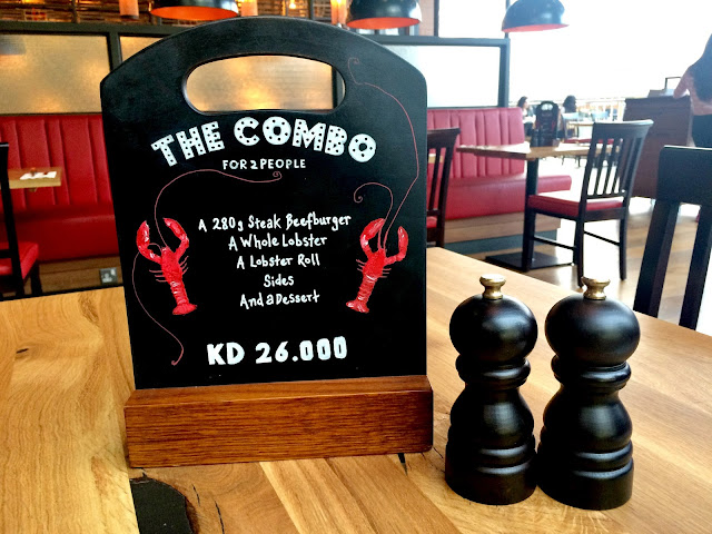 The Combo at Burger & Lobster, Kuwait