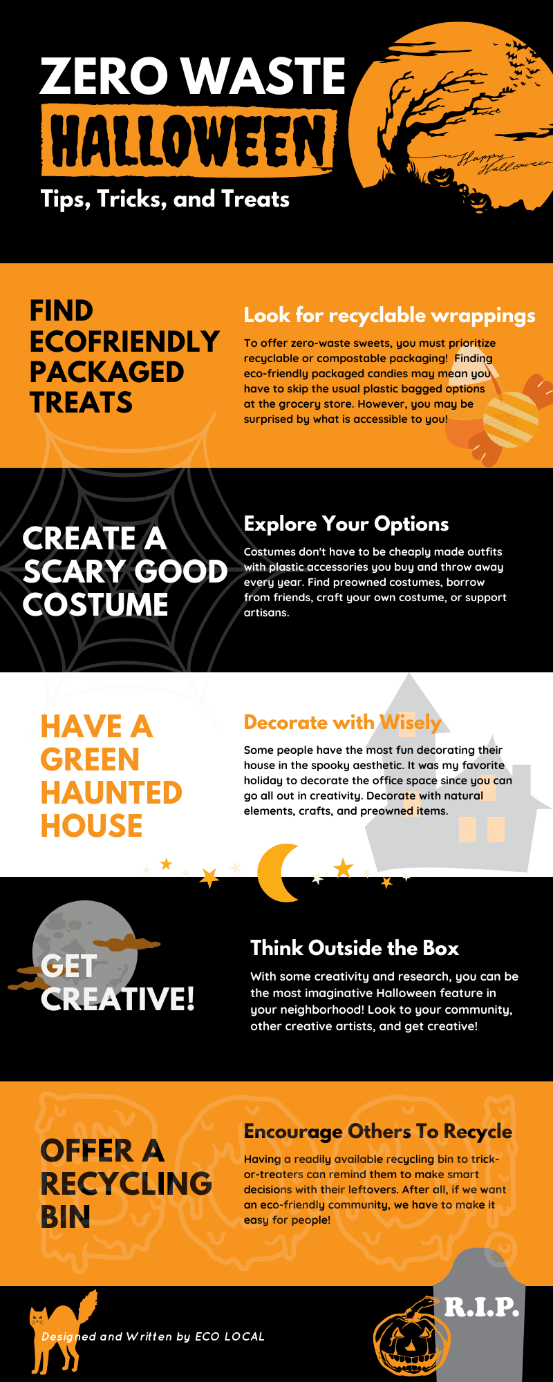Zero Waste Halloween #infographic #Environment #Halloween #Zero Waste