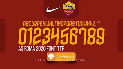Font AS ROMA 2020-2021