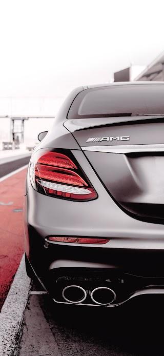 Grey Mercedes AMG car wallpaper