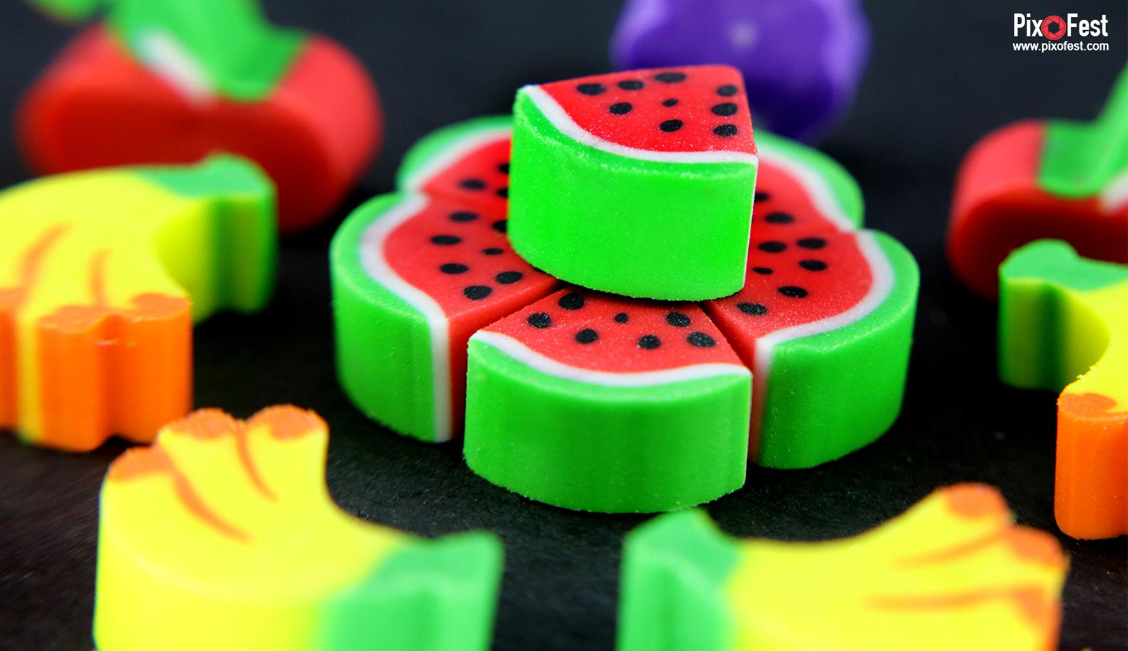 rubber,eraser,rubberbanana,rubberwatermelon,rubberindia,rubberfruit,colourfulrubber,colorrubber,pixofest