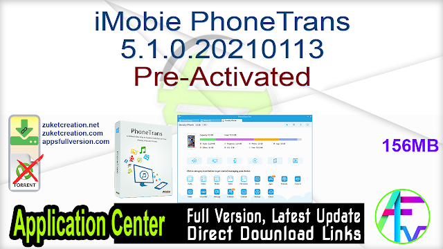 iMobie PhoneTrans 5.1.0.20210113 Pre-Activated