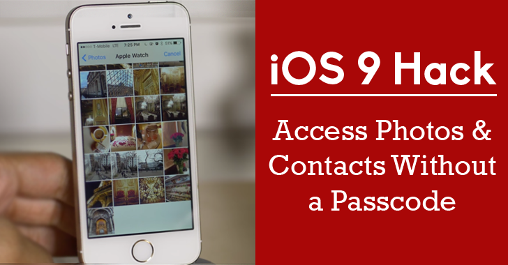 iOS 9 Hack: How to Access Private Photos and Contacts Without a Passcode