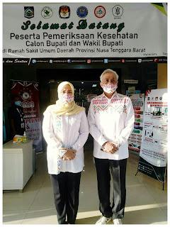 Paska Mendaftar, Tiga Bapaslon Pilkada Bima Jalani Tes Kesehatan di RSUD Provinsi NTB