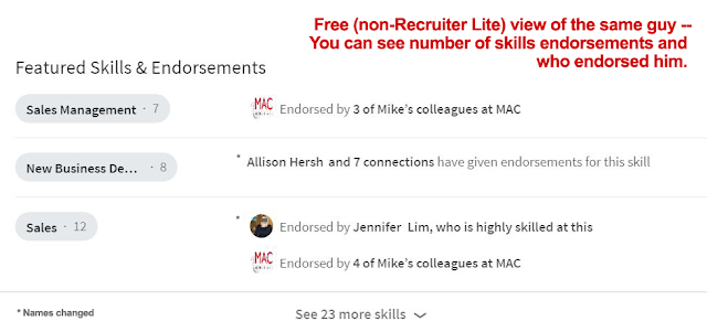 LinkedIn skills endorsements free version