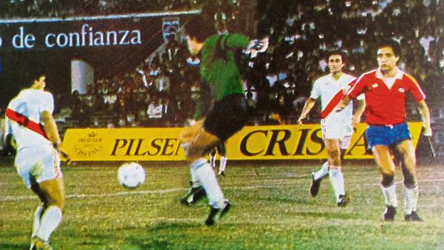 Chile y Perú en partido amistoso, 24 de febrero de 1985