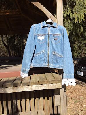 La Bella Gitana - Denim Upcycled Lace Jacket
