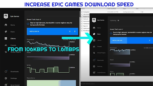 Increase download speed in Epic Games Launcher - 100% WORKING