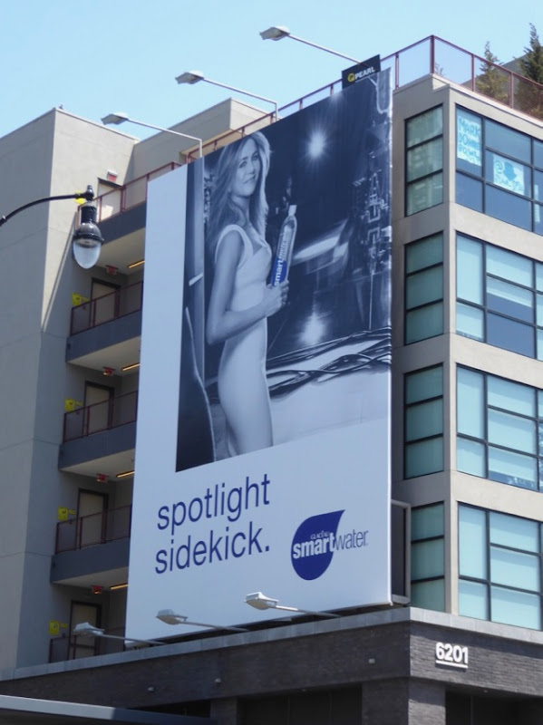 Jennifer Aniston Smartwater Spotlight sidekick billboard