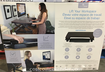 Costco 1017653 - ErgotronHome Sit or Stand Height-Adjustable Workspace Lift35 - The perfect accessory for your home office