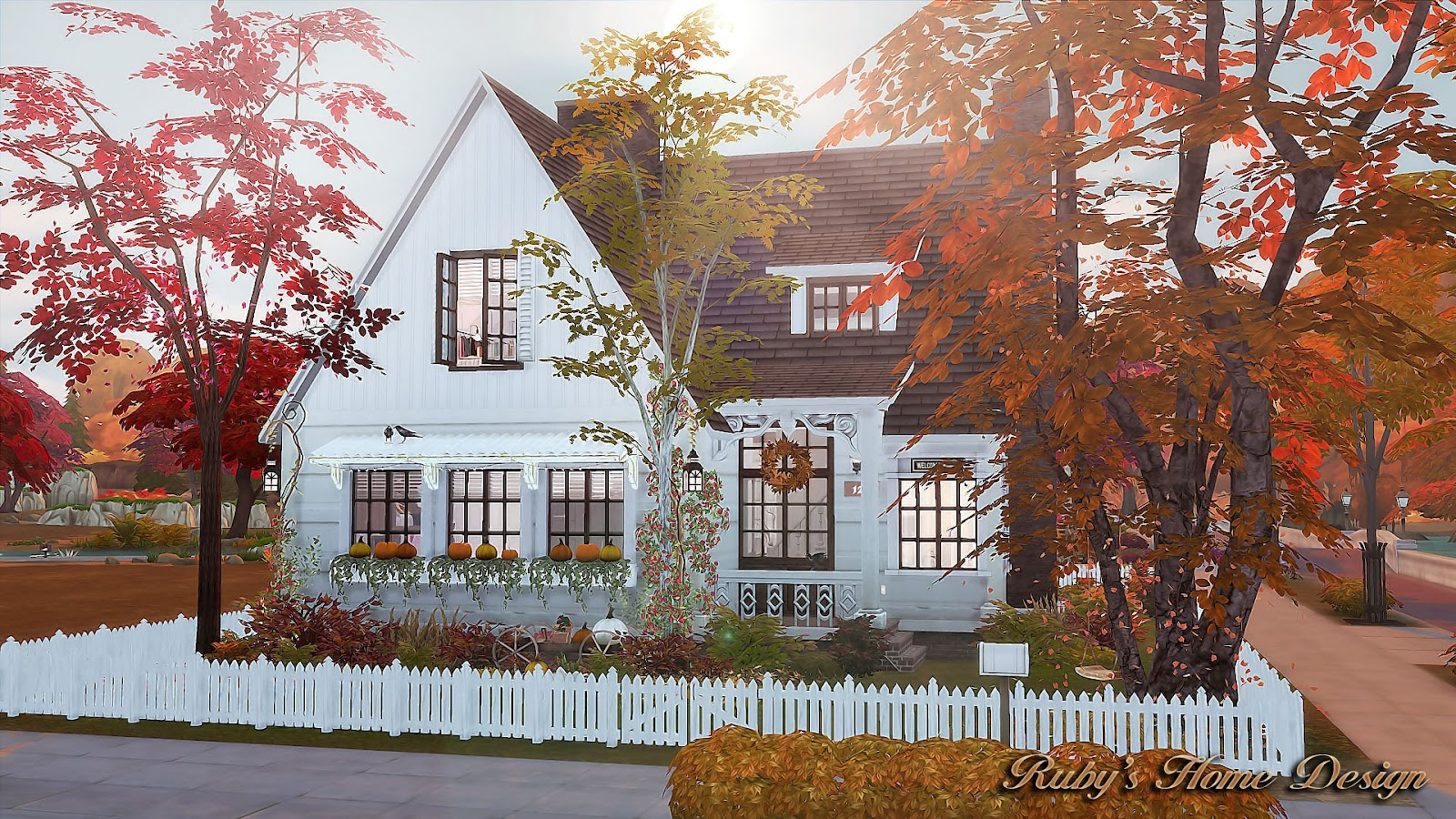 Fall Outdoor Decorations Wallpaper Sims4 Autumn Cottage 秋天的小屋 Ruby S Home Design