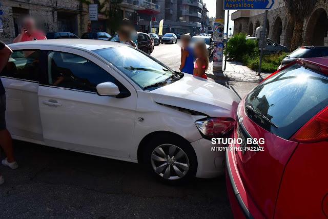 Τροχαίο ατύχημα καραμπόλα στο κέντρο του Ναυπλίου (βίντεο)