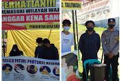TNI dan Polri Lakukan Pengecekan Posko PPKM Mikro di Desa Lalar Liang