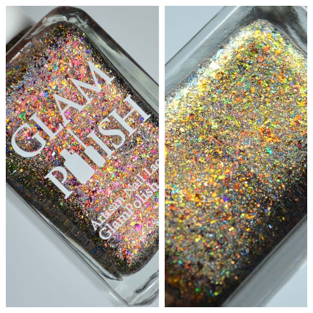 holographic nail polish with flakies