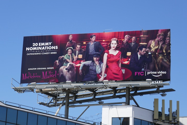Mrs Maisel season 3 Emmy billboard