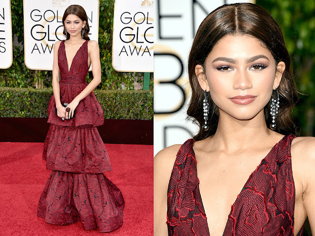 Zendaya in Marchesa - Golden Globe Awards 2016