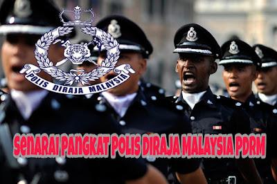 Senarai Pangkat Polis Diraja Malaysia PDRM
