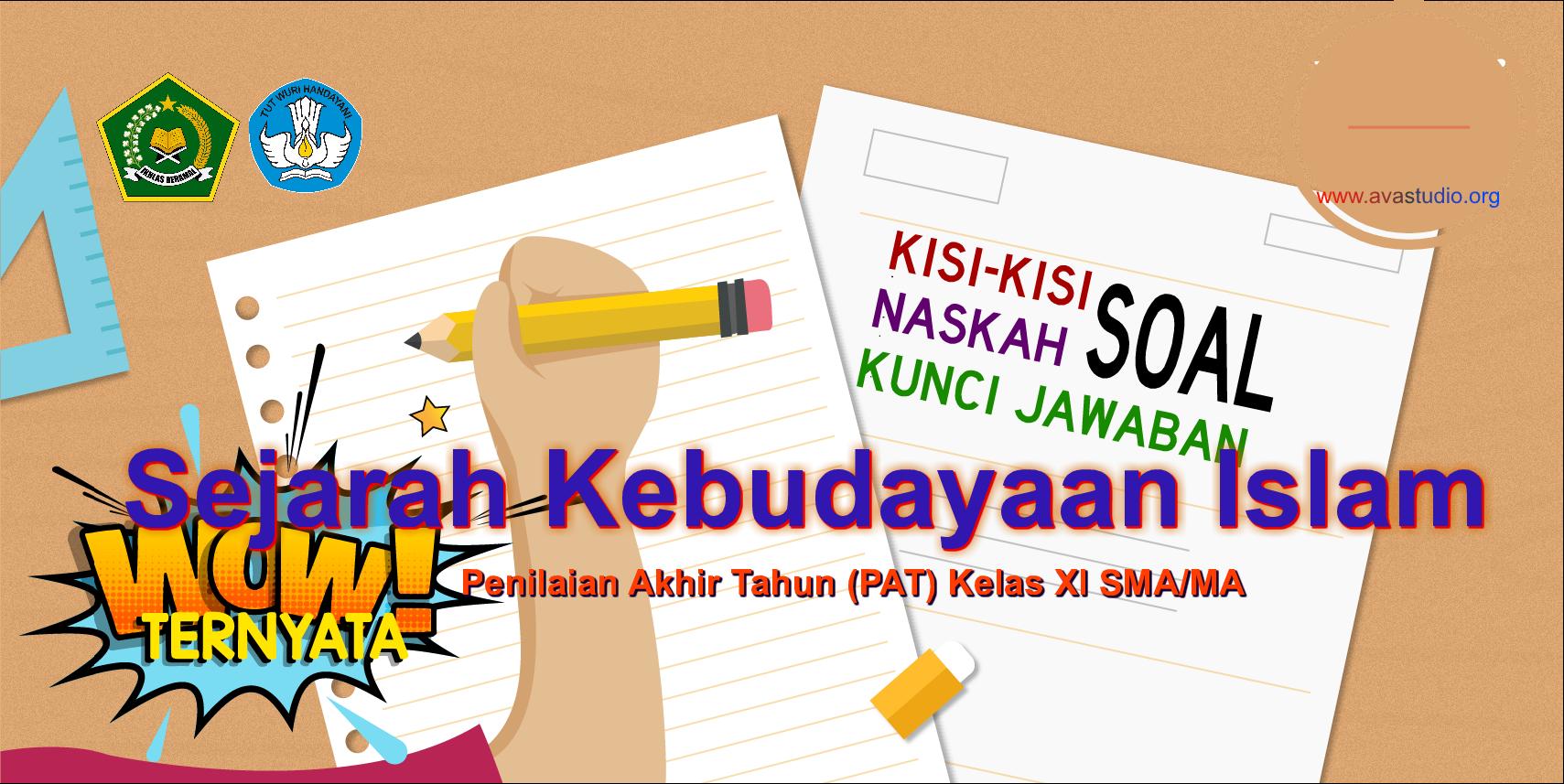 Kisi-Kisi, Naskah Soal dan Kunci PAT Sejarah Kebudayaan Islam (SKI) Kelas XI SMA/MA Kurikulum 2013