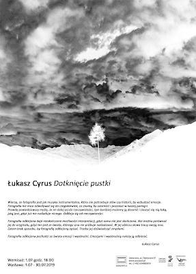 """""""Dotknięcie pustki"""" - wystawa fotografii odklejonej w Galerii Pusta cd w Jaworznie. ZPAF Okręg Śląski. fot. Łukasz Cyrus, 2019."""