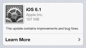 Apple updates iOS to version 6.1