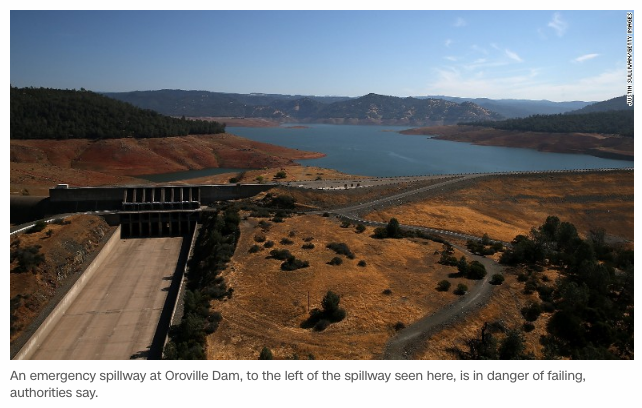 free to find truth: 137 | Lake Oroville dam spillway on
