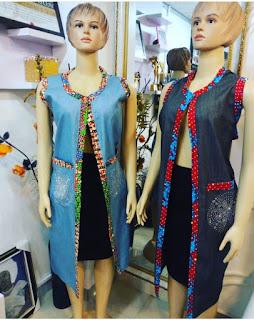 30 Latest Ankara and Jeans Combination