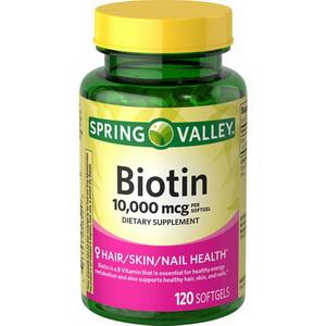 Viên Uống Bổ Sung Biotin Spring Valley Hỗ Trợ Mọc Tóc Móng Của Mỹ