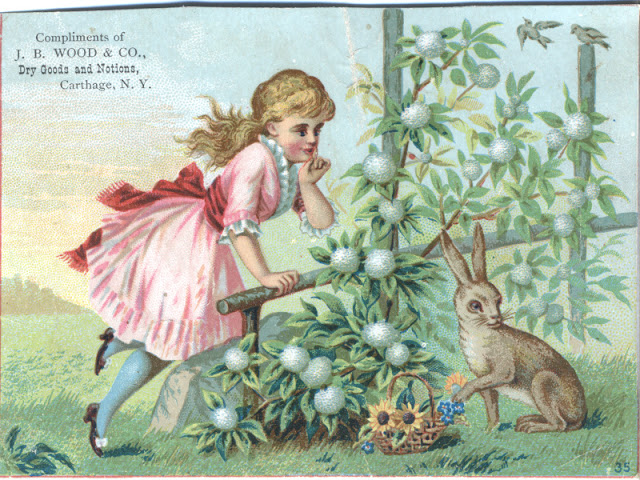 Easter Bunny, Easter Eggs, Victorian trade card, Eastertime #Easterholiday