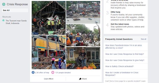 Facebook Crisis Response Tsunami Selat Sunda