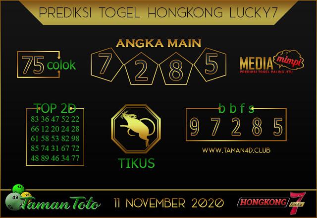 Prediksi Togel HONGKONG LUCKY 7 TAMAN TOTO 11 NOVEMBER 2020