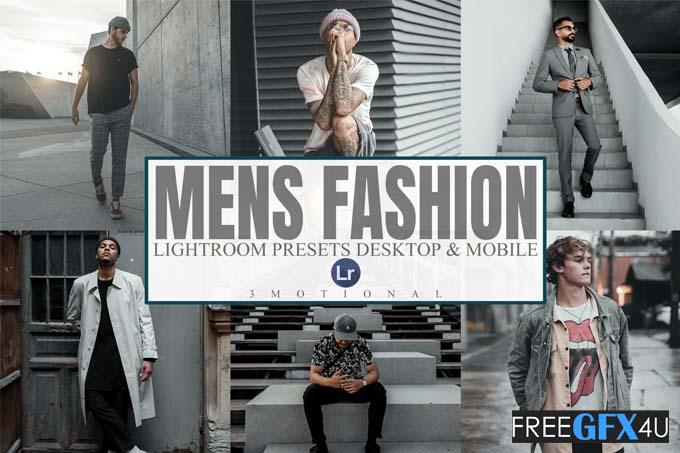 7 Men's Fashion Lightroom Presets