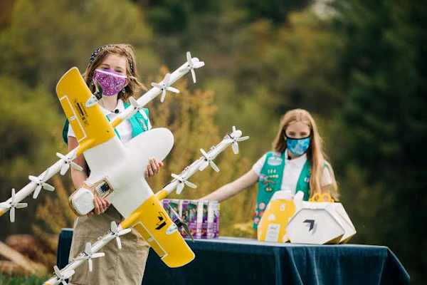 Virginia Girls Scouts making cookie deliveries via drone interesting news 