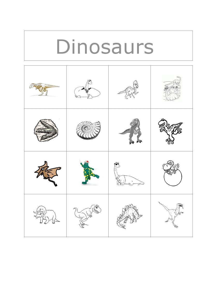 Clubhouse Academy: Free Bingo Game: Dinosaurs