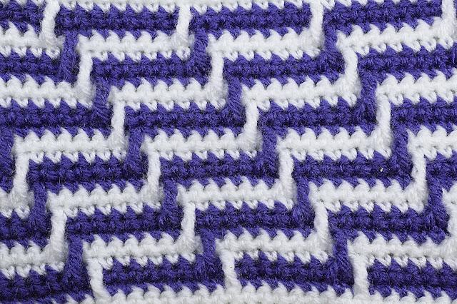2 - Crochet Imagen Varioación de punto apache por Majovel Crochet