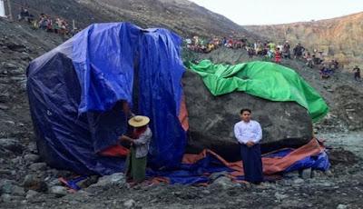 Wow, Batu Giok Raksasa 175 Ton ditemukan di Burma
